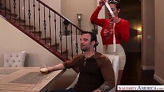 Naughty America Niki Snow Fucking in the Table