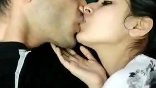 Hot kissing couple