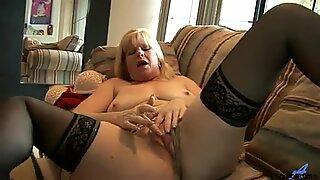 Bigtit mature mom fucks a fake cock