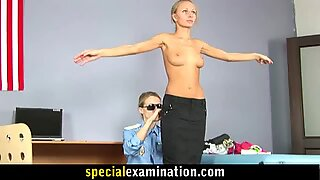 Sexy teen girl gets gyno exam