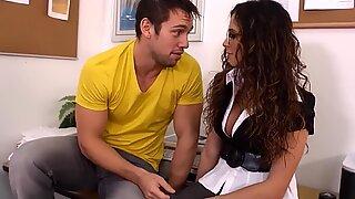 Brunette teacher Ariella Ferrera need younger cock to fuck her
