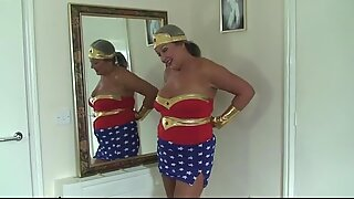 Mature Slut In Cosplay As Wonder Women