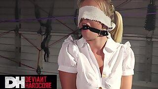 Deviant Hardcore - Fem Dom Katrina binds lil sub schoolgirl