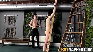 Submissive twink fucked and sucked by his sadistic master