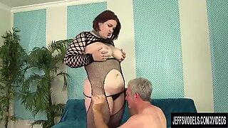A Guy Worships BBW Nova Jade'_s Fat Body and Then Fucks Her Hard