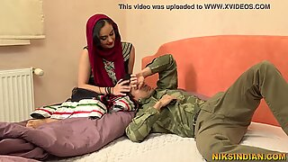 Hot Indian Bhabhi talks dirty in Hindi , sucks cock and gets her tight pussy fucked
