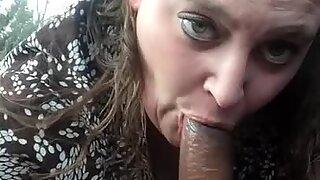 plus-size deep-throating big black cock on lunch break