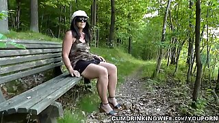 Wife gets fucked by strangers in a park