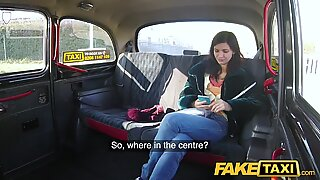 Fake Taxi Lucky drivers cock fills sexy passengers tight pink pussy