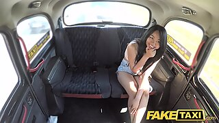 Fake Taxi Sexy Thai lady with piered pussy lips loves British dick