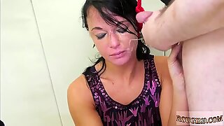 Rough wrestling tag team and face licking punishment first time Talent Ho