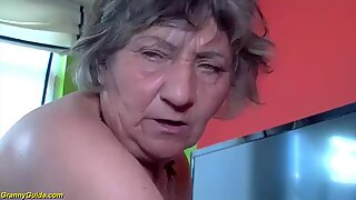 80 years old granny first time interracial
