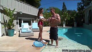 Nina North Fucks The Pool Man