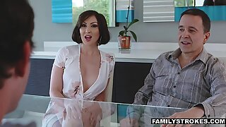 Hot MILF fucking her cute nephewReport this video