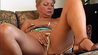 Granny Irena gives her old pussy a good fuck with a dildo